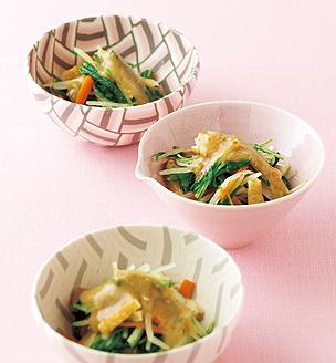 水菜のごま酢味噌掛け