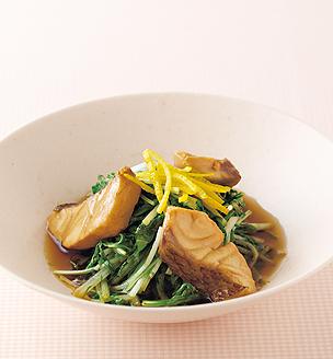 鯛と水菜のさっと煮