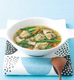 ニラ団子のスープ
