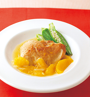鶏胸肉のソテーオレンジソース