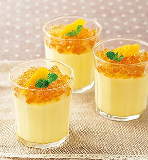 メープルジュレとオレンジのババロア