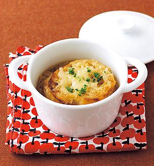 長ねぎのグラタンスープ