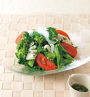 菜の花といかのサラダ