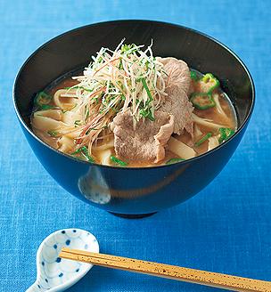 冷やしごま味噌汁の豚しゃぶ麺
