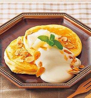 マスカルポーネチーズのパンケーキ