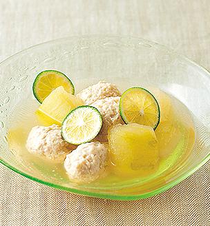 鶏団子と冬瓜の冷やし鉢