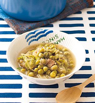 グリンピースと豚のスープ煮