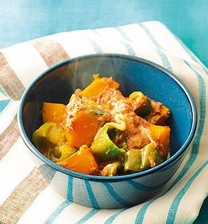 かぼちゃとコンビーフの甘辛煮