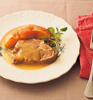 豚肉のりんご煮
