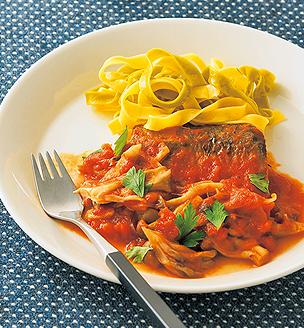 鯖ときのこのトマト煮