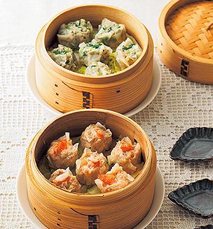 えびと小松菜のシュウマイ