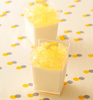 レモンのブランマンジェ