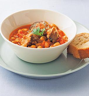 鯖缶と大豆のトマト煮
