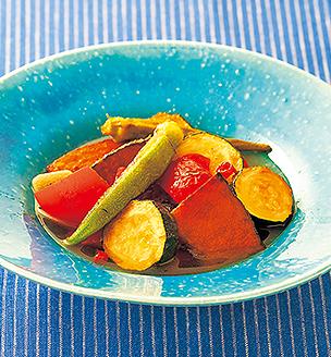 パプリカの肉詰め煮