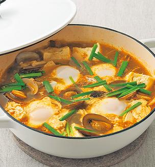 豚肉と豆腐のチゲ