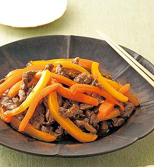 牛肉とパプリカの中華風炒め
