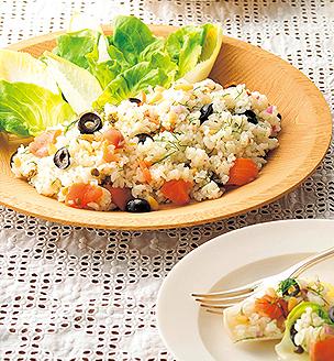 スモークサーモンのライスサラダ