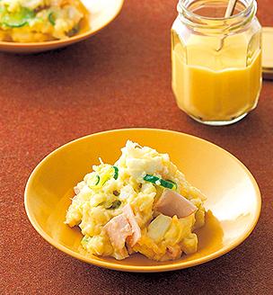 自家製マヨネーズの、長芋ポテサラ