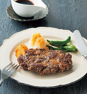 牛こま切れ肉のステーキ
