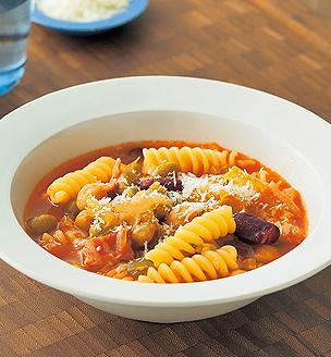 パスタと豆のスープ