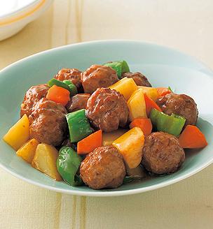 肉団子と野菜の甘酢和え