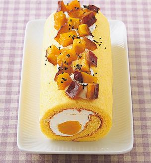 さつまいもと栗のロールケーキ