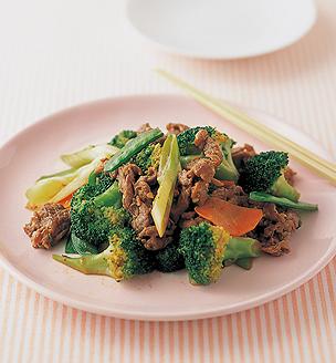 ブロッコリーと牛肉の炒め
