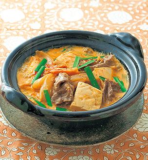 牛肉の豆乳キムチ鍋