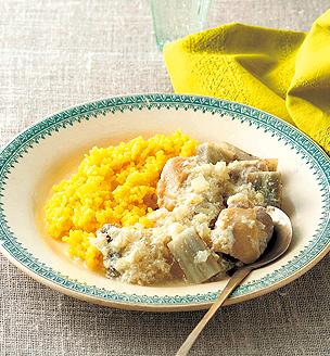 鶏肉とごぼうのヨーグルト煮