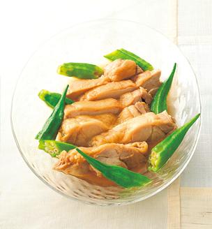 鶏肉とオクラの煮物