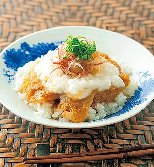 鯛とたたきと長芋の丼