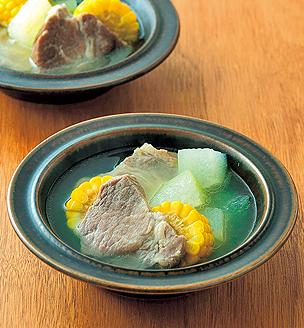 豚肉ととうもろこし、冬瓜の和風ポトフ