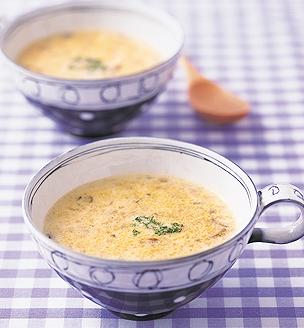 いろいろきのこのポタージュスープ