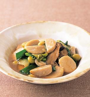 里芋と貝柱の炒め物
