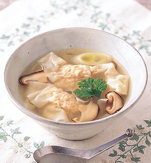帆立のワンタンスープ
