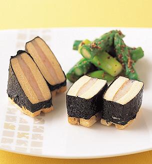高野豆腐のえびすり身揚げ