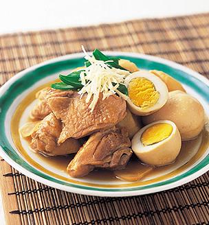 鶏肉とゆで卵の旨煮  しょうが風味