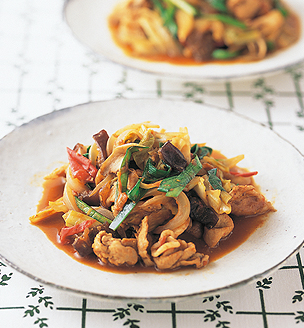 豚肉と野菜の梅味噌炒め