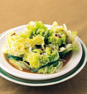 白菜と豚バラの豆豉蒸し