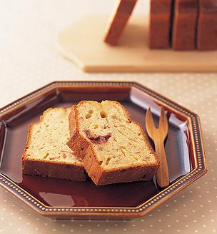 ホワイトチョコとジャムのパウンドケーキ