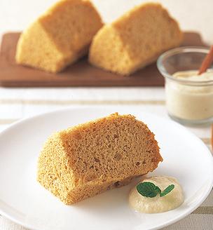 豆腐ときな粉のシフォンケーキ