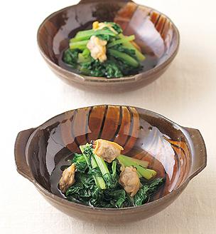 小松菜とあさりの煮びたし
