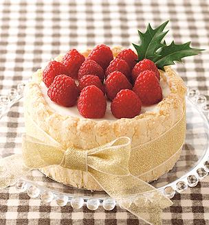レアチーズのクリスマスケーキ