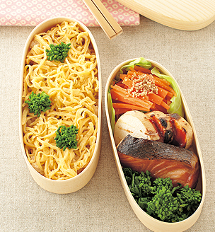 菜の花ずしと 焼き魚のおべんとう