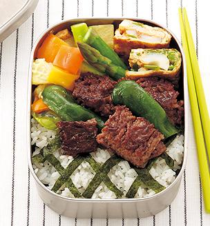挽き肉の照り焼きの、中高生のおべんとう。