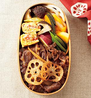 牛肉とごぼうの甘辛煮べんとう