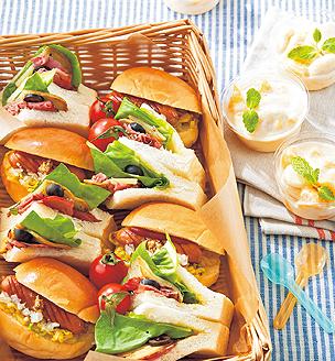 サンドイッチのおべんとう