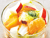 白菜のフルーツ漬け