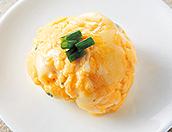 しらすとチーズの茶巾卵