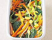 3色の野菜のナムル